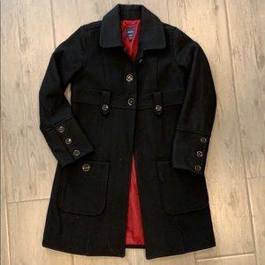 Gap Kids Girls Black Wool Dress Coat XL 12